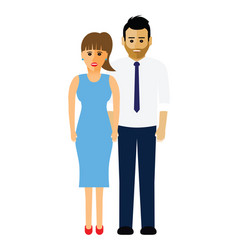 man and woman couple vector image vector image