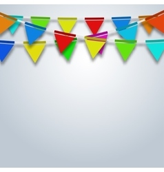 modern party flags background vector image