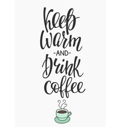 Quote I love coffee typography vector image vector image