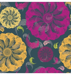 Stylish floral seamless pattern vector image vector image