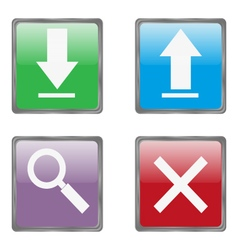 Useful internet buttons vector image vector image