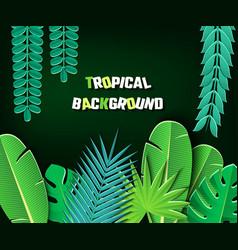 paper cut tropical2-01 vector image vector image