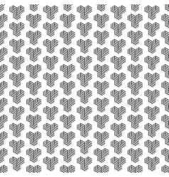 Seamless pattern with cubes Repeating modern vector image vector image
