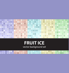 abstract pattern set fruit ice seamless vector image vector image