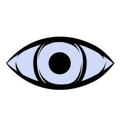 all-seeing eye icon cartoon vector image