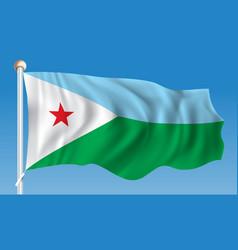 flag of djibouti vector image