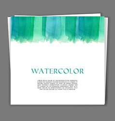 Hand painted watercolor texture vector image vector image