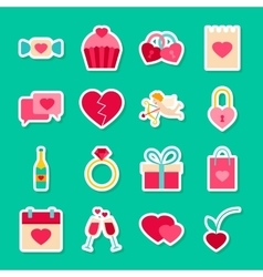 Happy Valentines Day Stickers vector image