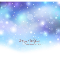 Christmas background with boket lights vector image vector image