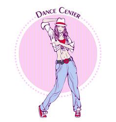 dance line color street dance vector image vector image