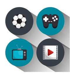 entertainment elements isolated icons vector image