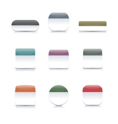 Two-color buttons vector image vector image