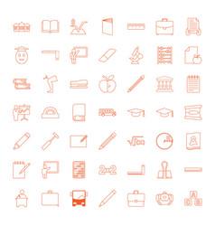 49 school icons vector image