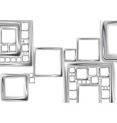 Abstract metallic squares tech design vector