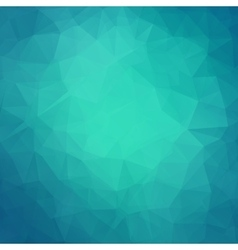 Abstract teal geometric triangle background vector image