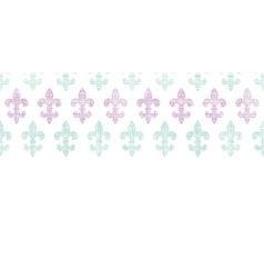 Abstract textile fleur de lis stripes horizontal vector image