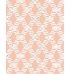 Abstract white line seamless pattern on pink vector image