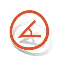 Angle sign sticker orange vector image