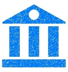 Bank Building Grainy Texture Icon vector