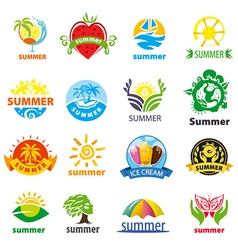 Biggest collection of logos summer vector