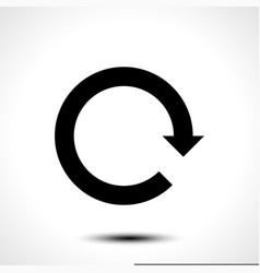 Black arrow icon reload refresh rotation reset vector