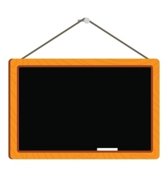 Blank blackboard in wooden frame vector