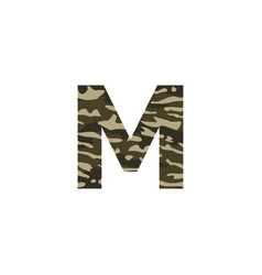 camouflage logo letter m vector image
