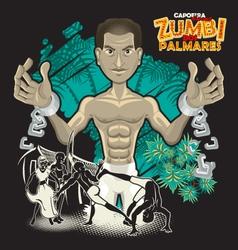 Capoeira Heroes Zumbi Dos Palmares vector