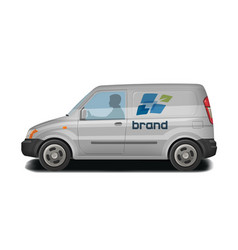 Car vehicle van icon delivery cargo vector