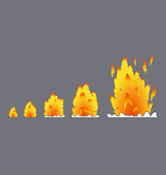 Cartoon explosion effect with smoke effect boom vector