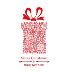 Christmas gift box of snowflakes vector