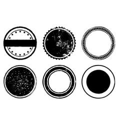 circle stamp set vector image
