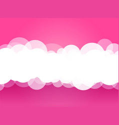 clouds pink background vector image