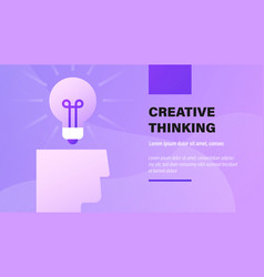 creative thinking vector image