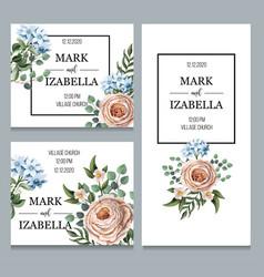 delicate wedding invitation with english vector image