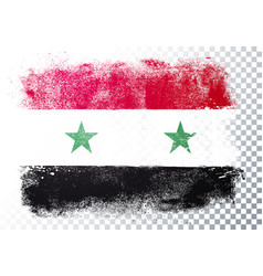 distressed grunge flag syria vector image