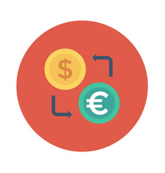 Dollar euro currency vector