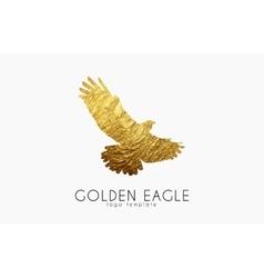 Eagle logo golden golden bird logo vector