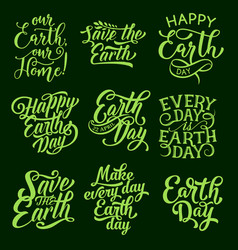 Earth day symbol for ecology holiday design vector