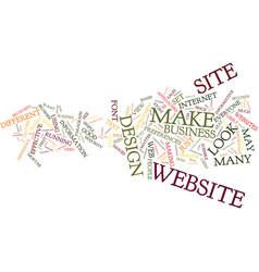 Effective website design text background word vector