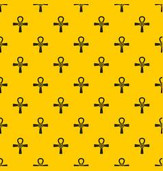 Egypt ankh symbol pattern vector