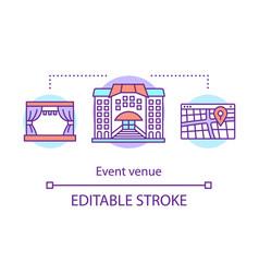 Event venue concept icon organization idea thin vector
