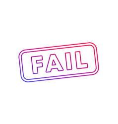 fail stamp on white line vector image