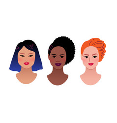 female profile picture vector image