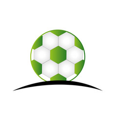 football soccer balloon emblem vector image