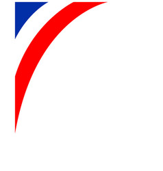 French flag corner frame vector
