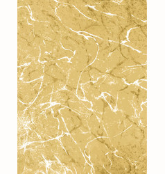 gold marbling texture design for poster brochure vector image