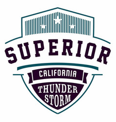 Graphic design superior california for t-shirts vector