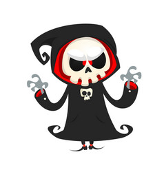 Grim reaper cartoon character isolated vector