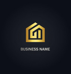 home architect design logo vector image